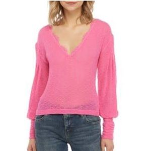 New! FREE PEOPLE Wild Bloom Top